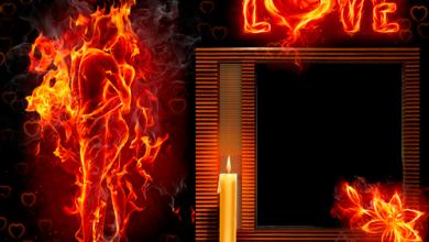 Liebe wie Feuer Fotorahmen 390x220 - Liebe wie Feuer Fotorahmen