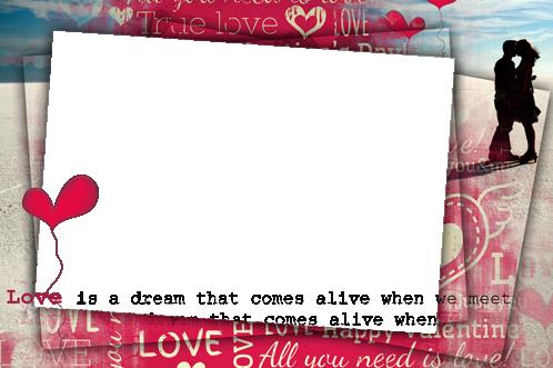 Liebe wie Traum Fotorahmen - Liebe wie Traum Fotorahmen
