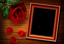 Rahmen für Foto Rose auf dem Tisch Liebesrahmen 220x150 - Rahmen für Foto Rose auf dem Tisch Liebesrahmen