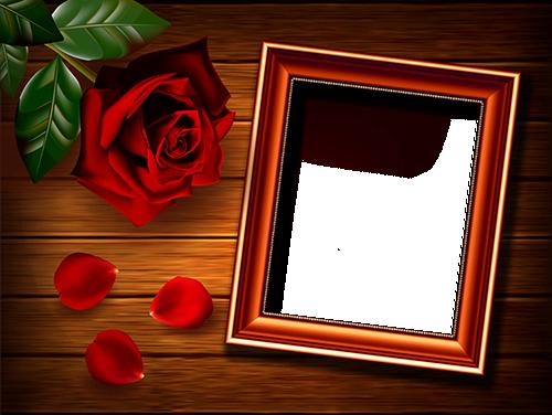 Rahmen für Foto Rose auf dem Tisch Liebesrahmen - Rahmen für Foto Rose auf dem Tisch Liebesrahmen