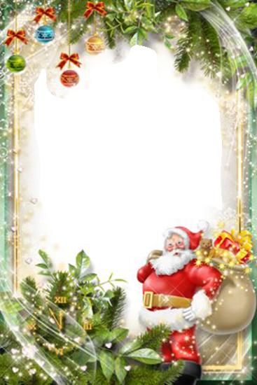hubsche Santa Klausel Rahmenkarte - hübsche Santa Klausel Rahmenkarte